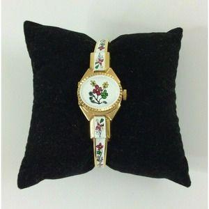 Vintage Jai DeLuxe Watch Hinged Bracelet